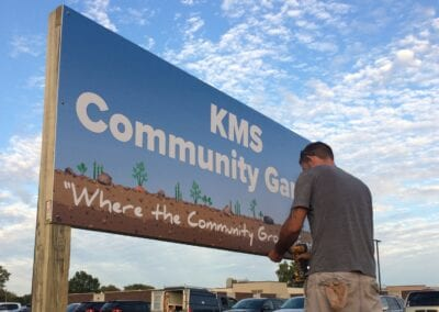 Kennedy Middle School – Community Garden Sign